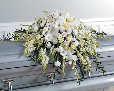 Casket Spray White Daisy