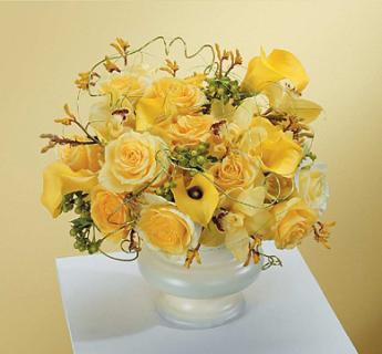 Yellow Urn Arrangement