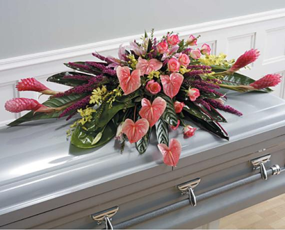 Tropical Casket Spray