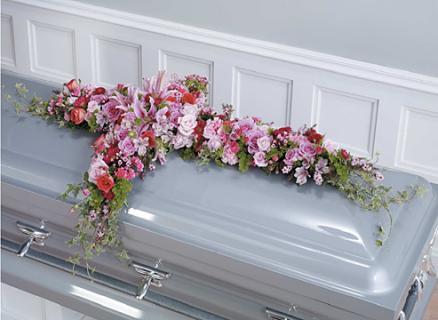 Lavener Cross Casket Spray