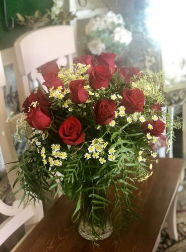 One and Half Dozen Red Roses