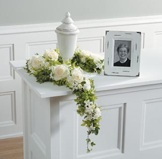 White Cremation Garland